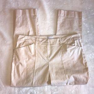 New York & Company stretch khaki dress capri 6